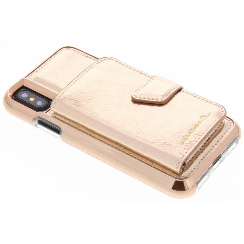 Rosé Gouden Compact Mirror Case voor de iPhone Xs / X