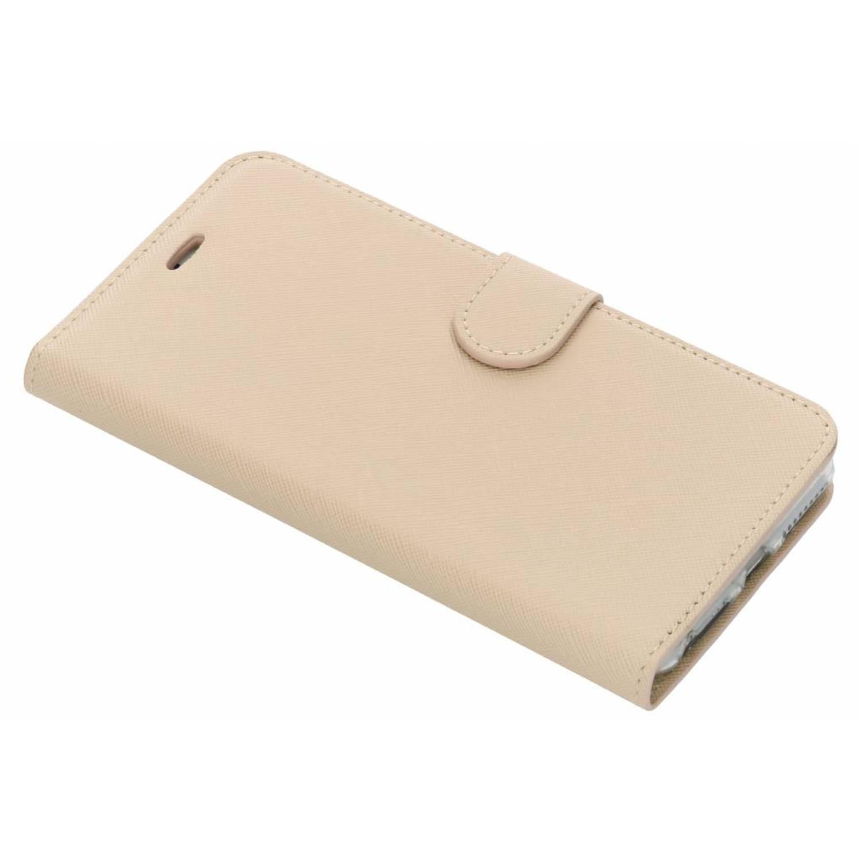Beige Saffiano booktype hoes voor de iPhone 8 Plus / 7 Plus / 6(s) Plus