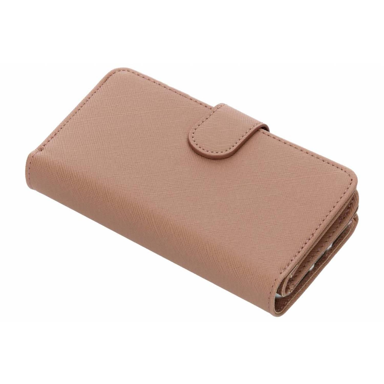 Khaki Saffiano 9 slots portemonnee hoes voor de iPhone 8 / 7 / 6s / 6
