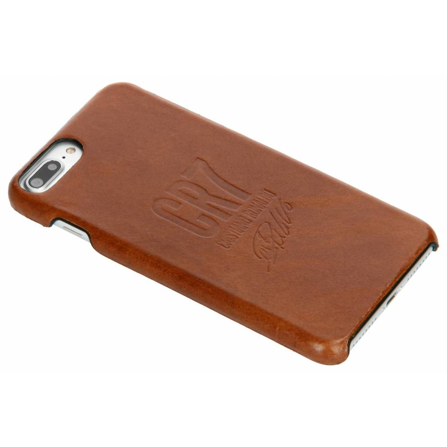 Bruine CR7 Signature Edition Leather Case voor de iPhone 8 Plus / 7 Plus / 6(s) Plus