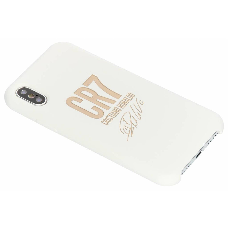 Witte / Gouden CR7 Signature Edition Silicone Case voor de iPhone Xs / X