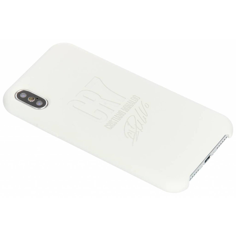 Witte CR7 Signature Edition Silicone Case voor de iPhone Xs / X