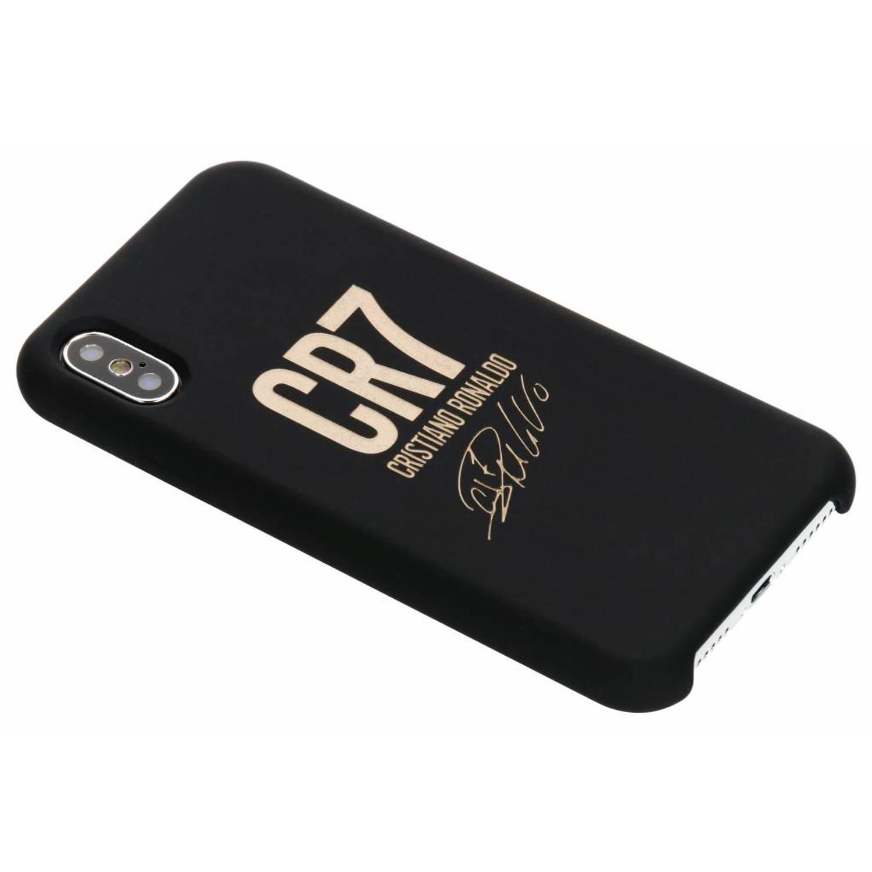 Zwarte / Gouden CR7 Signature Edition Silicone Case voor de iPhone Xs / X