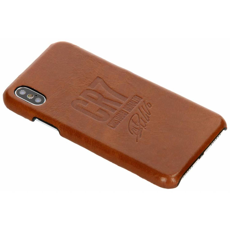 Bruine CR7 Signature Edition Leather Case voor de iPhone X