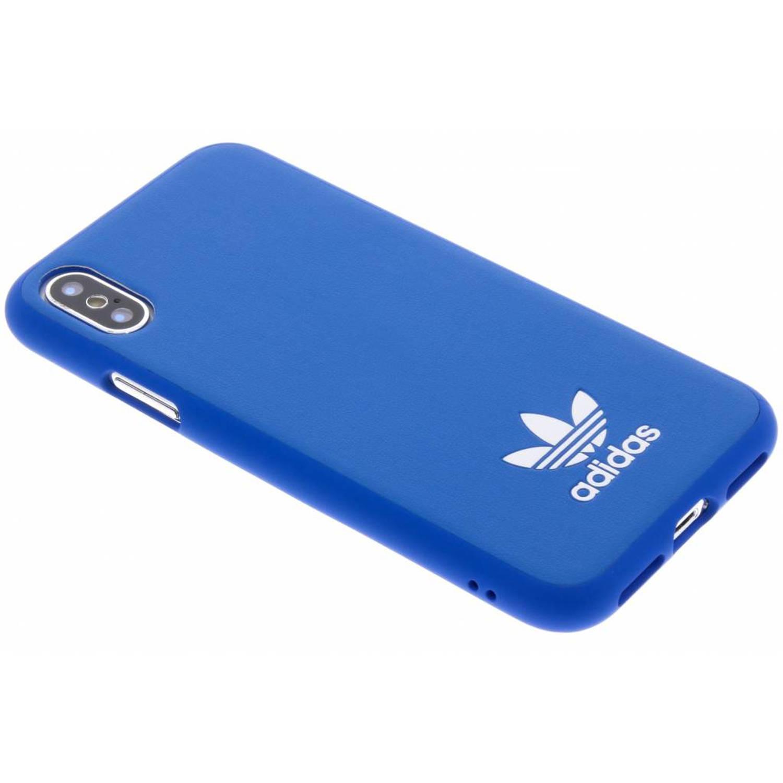 Blauwe Basic Logo Case voor de iPhone Xs / X