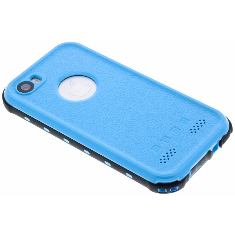 Blauwe Dot Plus Waterproof Case voor de iPhone 5 / 5s / SE