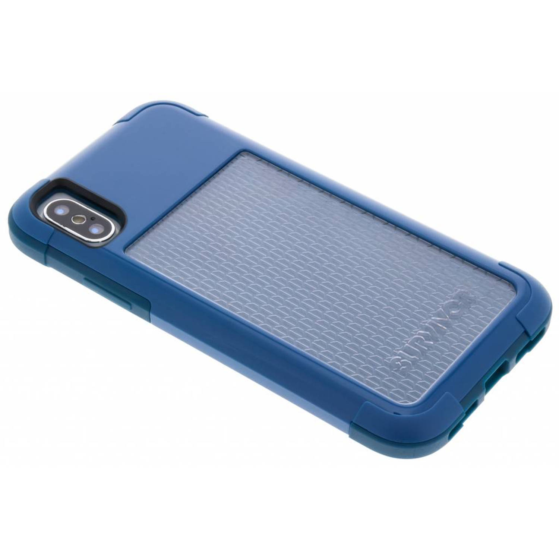 Blauwe Survivor Fit Case voor de iPhone Xs / X