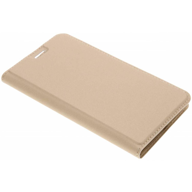 Gouden Slim TPU Booklet voor de Motorola Moto G5S