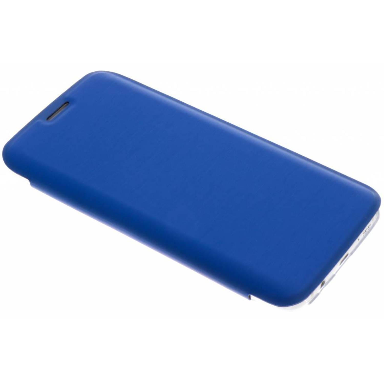 Blauwe Clear Booklet Case voor de Samsung Galaxy S7 Edge