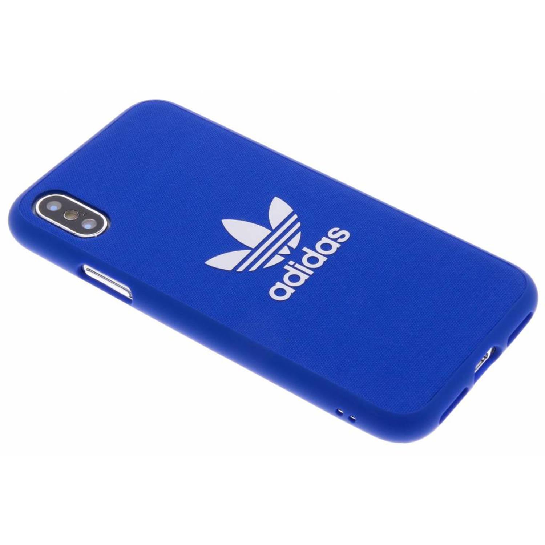 Blauwe Adicolor Moulded Case voor de iPhone X
