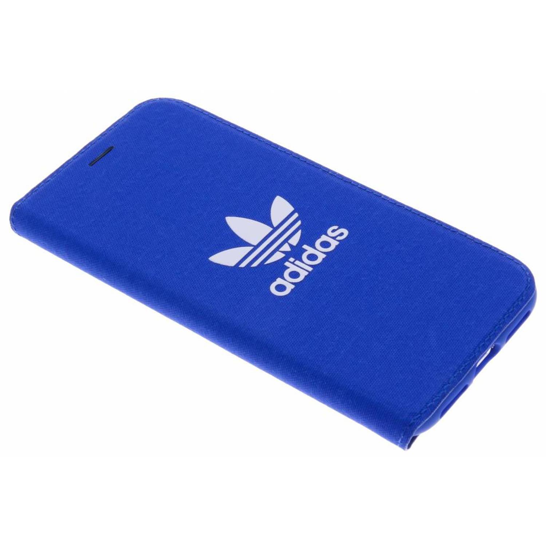 Blauwe Adicolor Booklet Case voor de iPhone Xs / X
