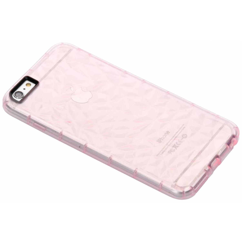 Roze geometric style siliconen case voor de iPhone 6(s) Plus