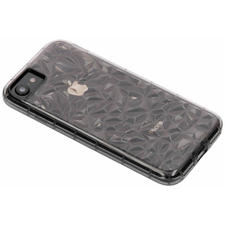 Grijze geometric style siliconen case voor de iPhone 8 / 7