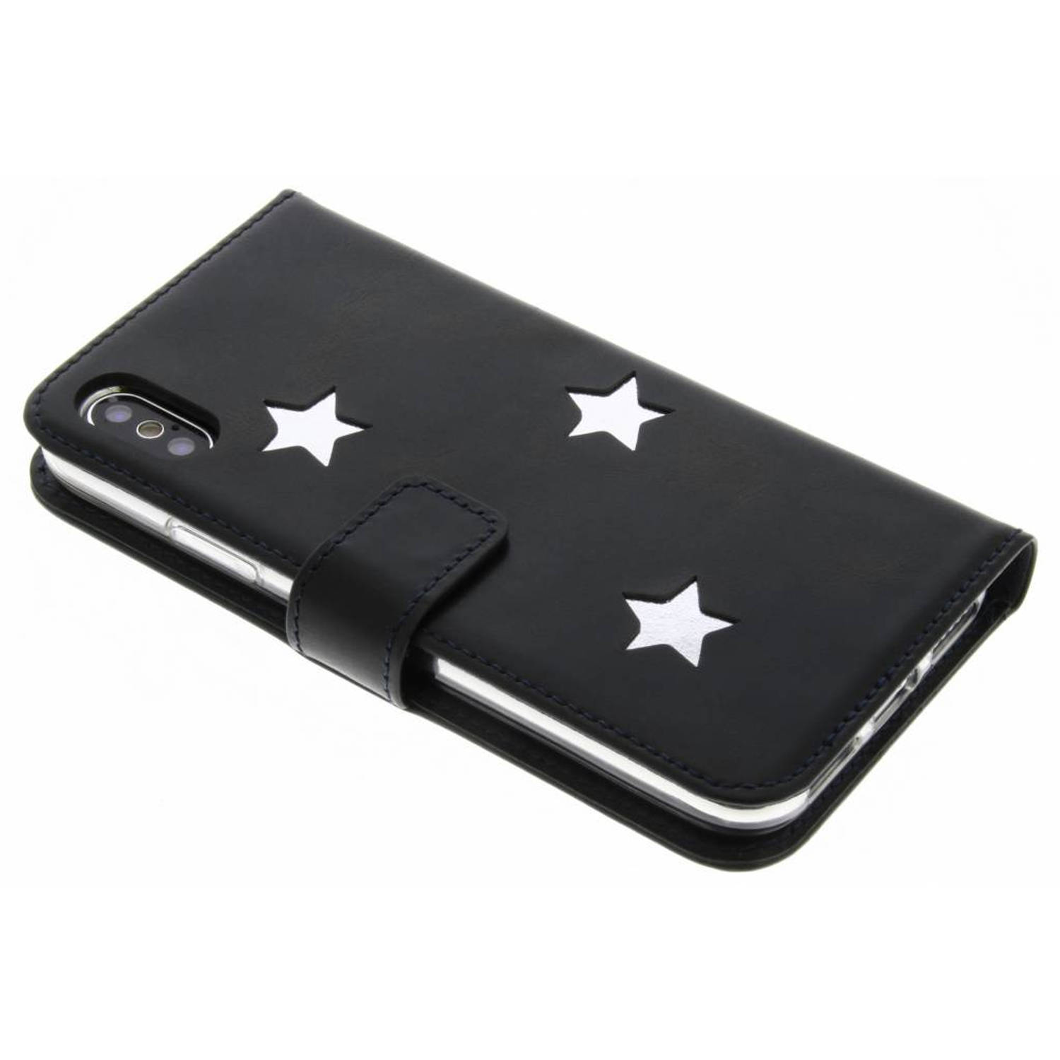 Silver Reversed Star Booktype hoes voor de iPhone Xs / X