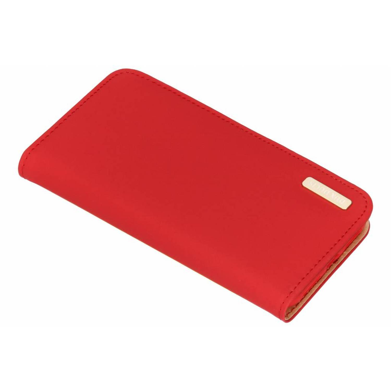 Rode Genuine Leather Case voor de iPhone Xs / X