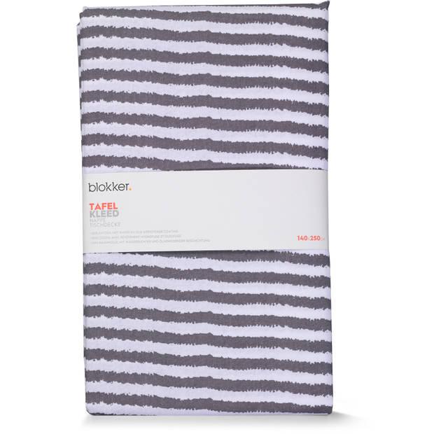 Blokker tafelkleed waterafstotend - strepen - 140 x 250 cm