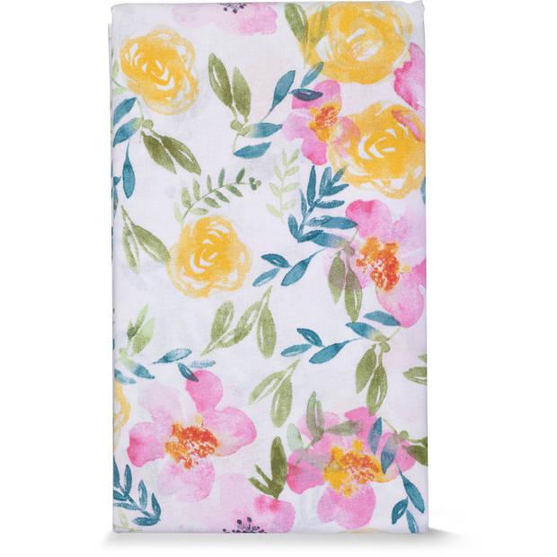 Blokker tafelkleed waterafstotend - bloemen - 140 x 250 cm