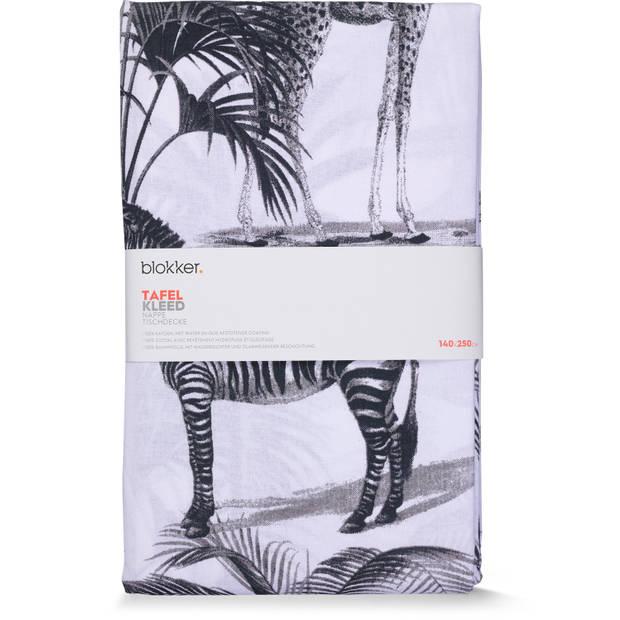 Blokker tafelkleed waterafstotend - jungle - 140 x 250 cm