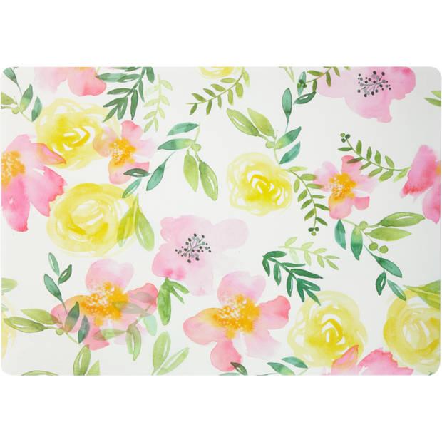 Blokker placemat met bloemenprint - 30 x 43 cm