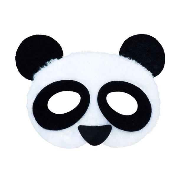 Boland halfmasker pluche dieren panda