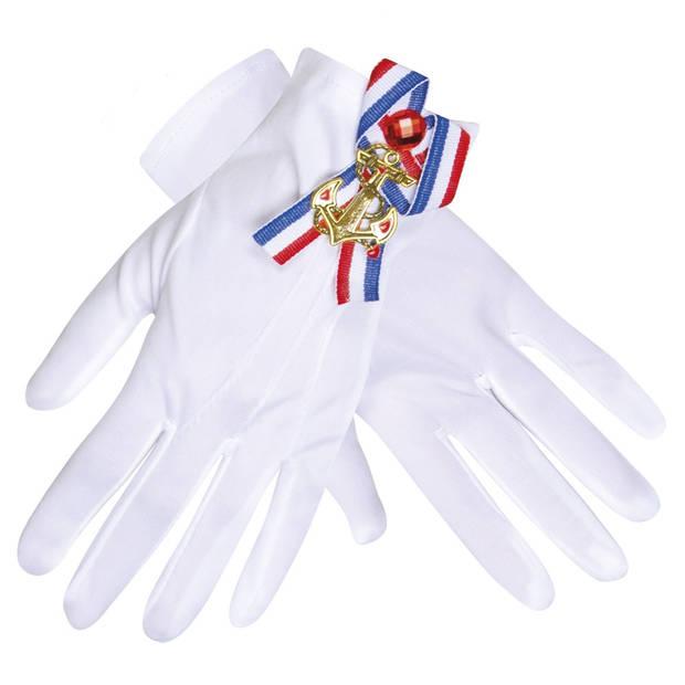 Boland handschoenen Navy dames wit