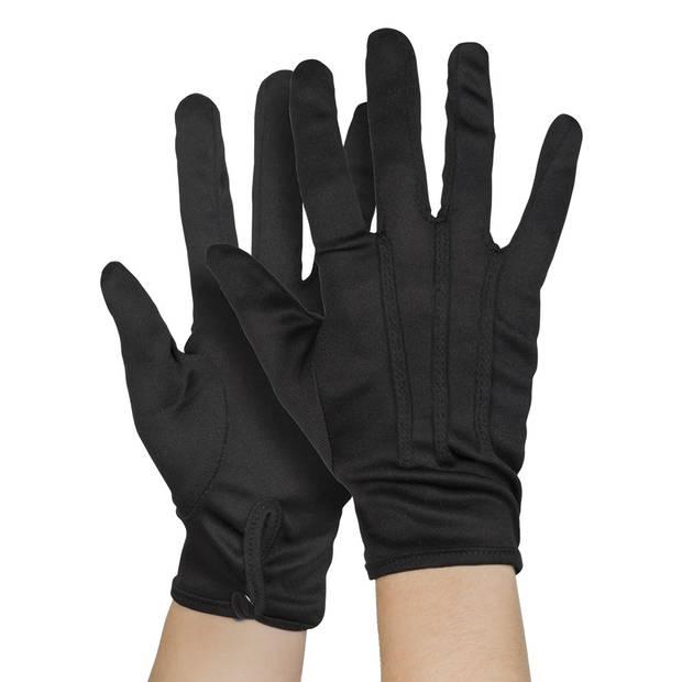 Boland handschoenen Basic met drukknop unisex zwart