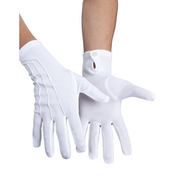 Boland handschoenen XL met drukknop unisex wit
