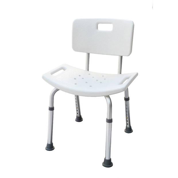 Parcura douchekruk / badstoel met rugleuning - wit