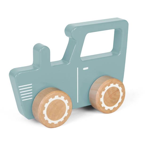 Tractor hout Little Dutch 13x4x9 cm