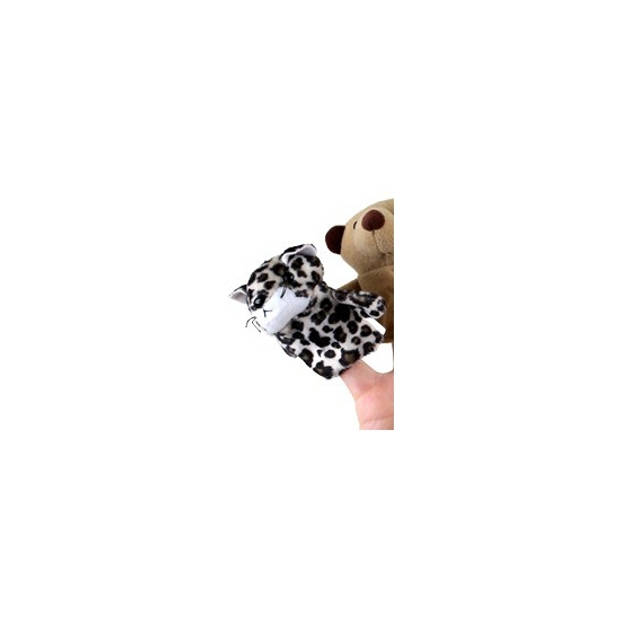Pluche vingerpopje luipaard - Vingerpoppetjes