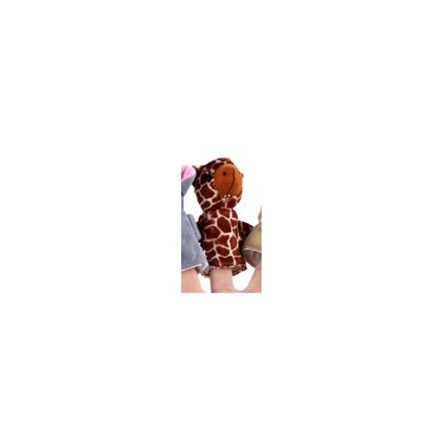 Pluche vingerpopje giraffe - Vingerpoppetjes