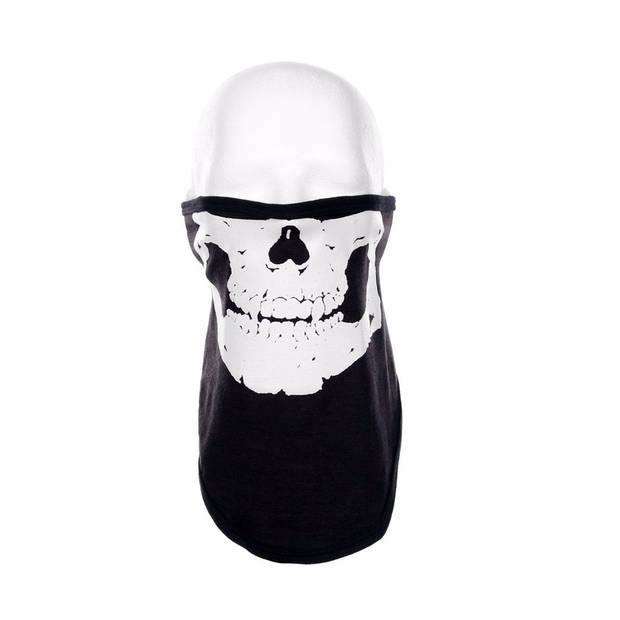 Zwart skelet biker masker voor volwassennen - Bandana's