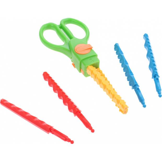 Toi-Toys kartelschaar met verschillende patronen 16 cm groen