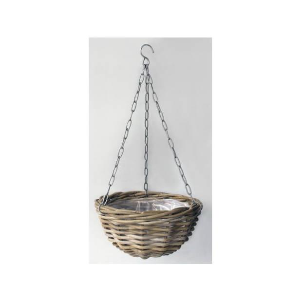 Hanging Basket Rotan Antique Grey D30CM
