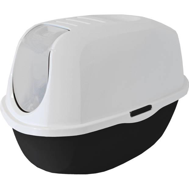 Kat toilet smart cat zwart wit