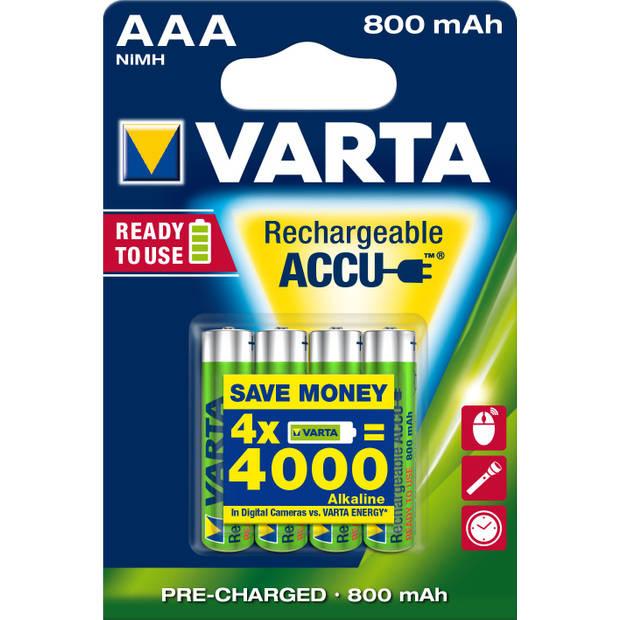 Oplaadbare batterijen Varta Ready to Use AAA: 4 stuks