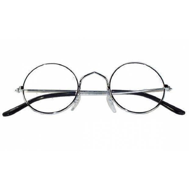 Ronde oma/opa bril metalen montuur - Verkleedbrillen