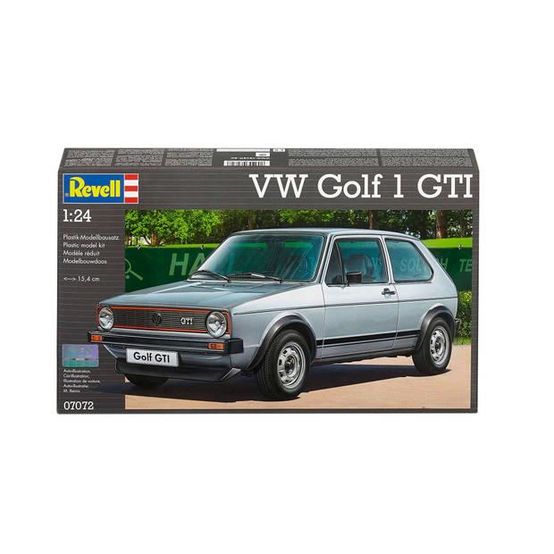 Volkswagen Golf 1 GTI Revell - schaal 1 -24 - Bouwpakket Revell Voertuigen