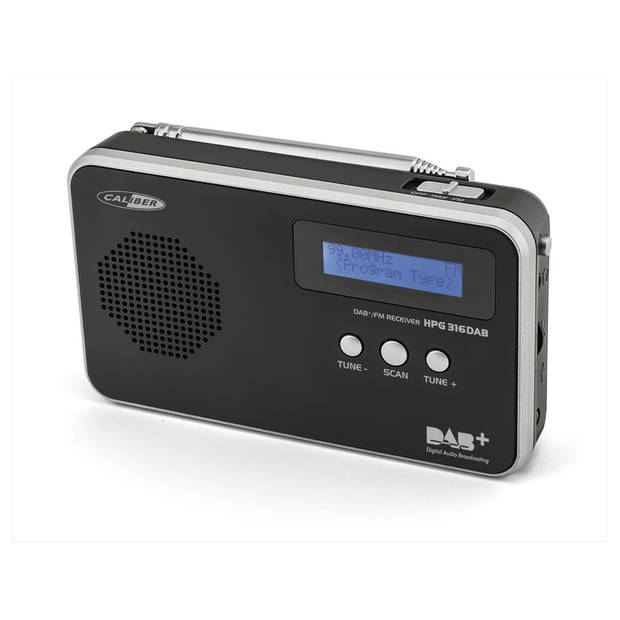 Caliber DAB+ Radio Met FM Ontvangst - Zwart (HPG316DAB-B)