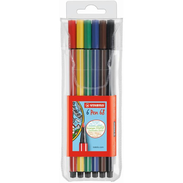 Viltstiften Stabilo pen 68 - 6 stuks - Viltstift Stabilo