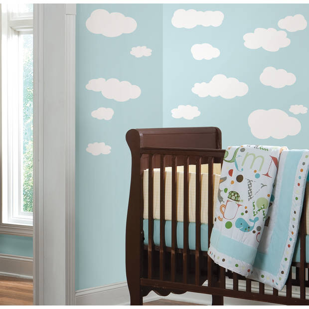 Muursticker RoomMates - Clouds White Background RoomMates