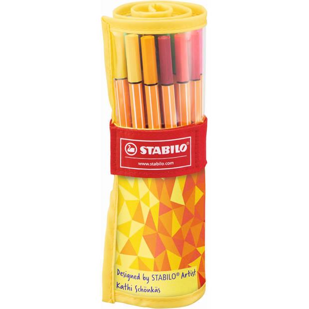 Fineliners Stabilo Point 88 rollerset 25 stuks