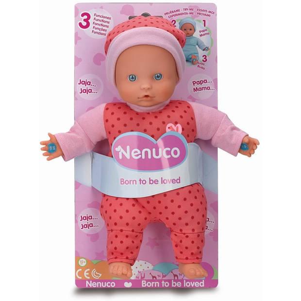 Pop Nenuco soft met 3 functies roze 25 cm