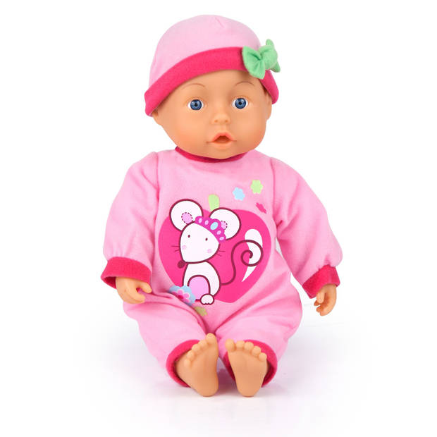 First Words Baby Bayer 28 cm roze