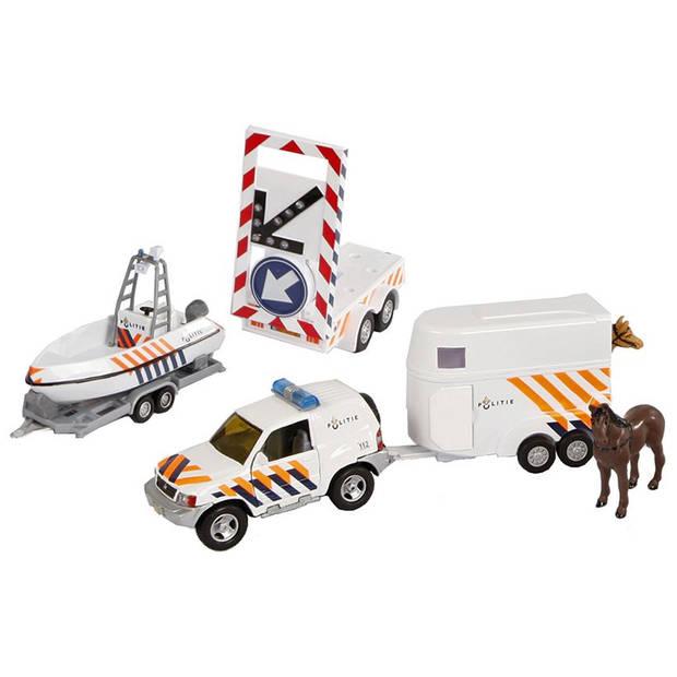 Politieset 2-Play met 2 aanhangers en pijlwagen