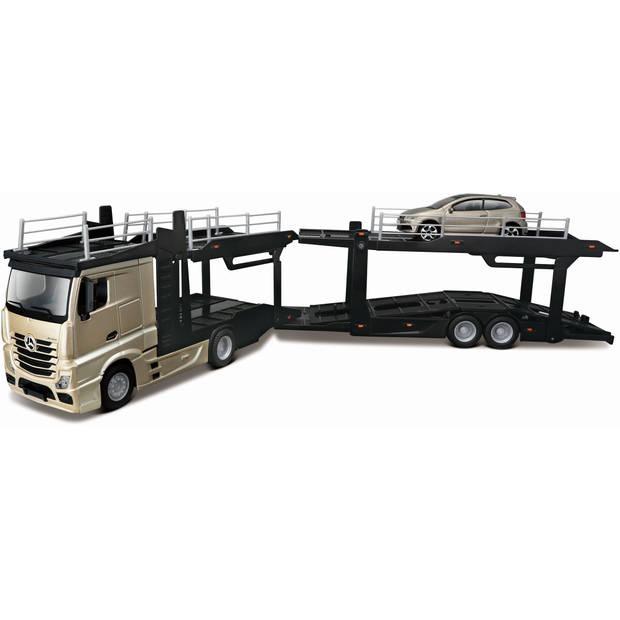 Vrachtauto Bburago Mercedes + Volkswagen schaal 1:43