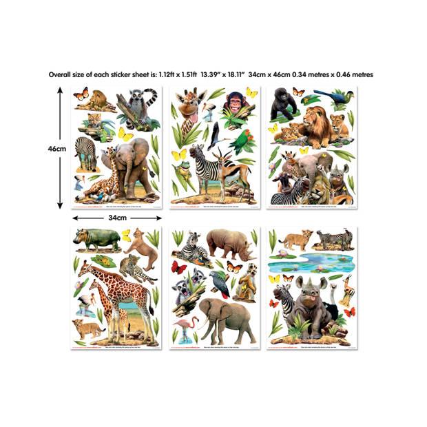 Muursticker Jungle Safari Walltastic - 82 stickers Walltastic
