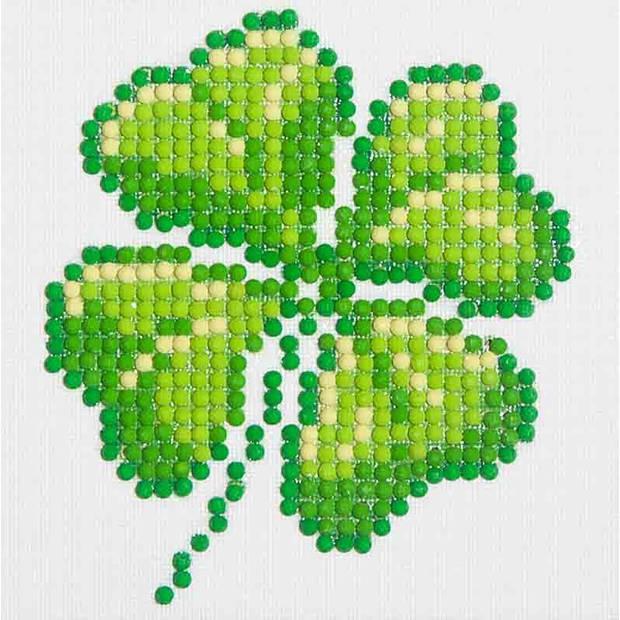 Four Leaf Clover Diamond Dotz - 10x10 cm - Diamond Painting