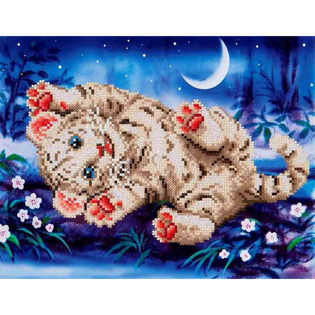 Baby Tiger Roly Poly Diamond Dotz - 35x27 cm - Diamond Painting