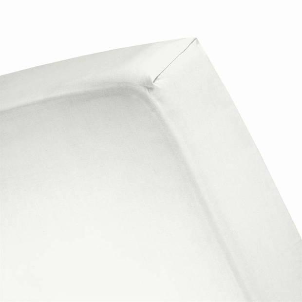 Cinderella flanel hoeslaken - 100% geruwde flanel-katoen - 2-persoons (140x200/210 cm) - Ivory